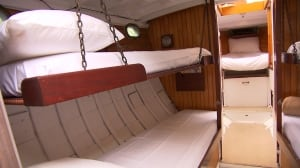 Retrofitted century-old boats, meant as unique Old Port accomodations, still en route
