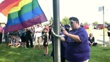 Taber pride flag
