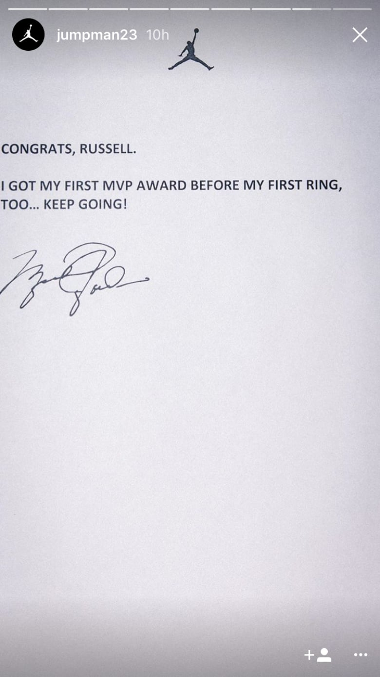 Michael Jordan, Taylor Swift salute MVP Russell Westbrook   CBC Sports