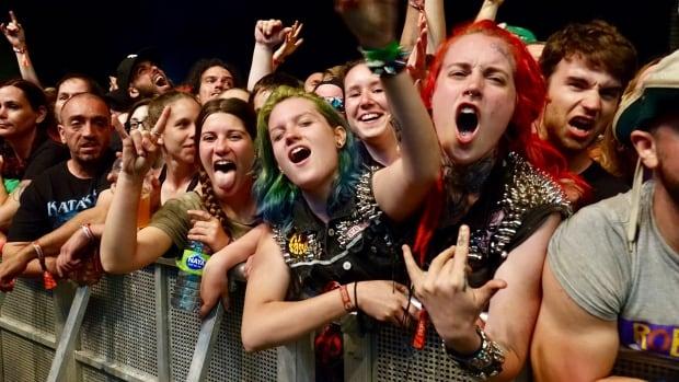 Fans enjoy The Offspring's set at Montebello Rockfest on June 23, 2017.