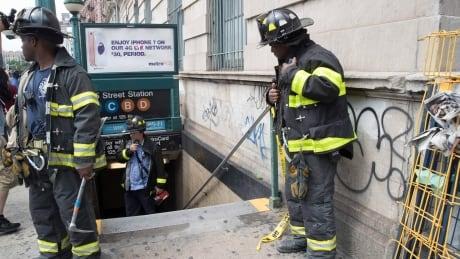 New York City subway train derails, dozens injured