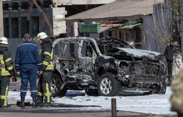 UKRAINE CAR EXPLOSION