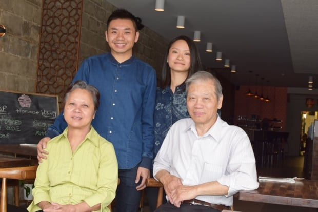 Yuen family at Odd Couple restaurant Saskatoon