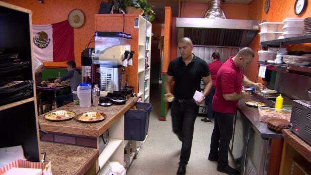 Daniel Godinez at La Bamba restaurant