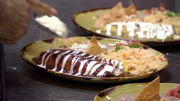 Food at La Bamba restaurant