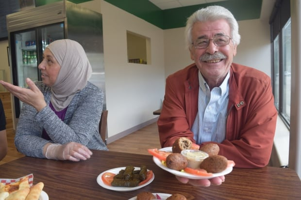 Nariman and Najib Jomha at Lebanese Kitchen