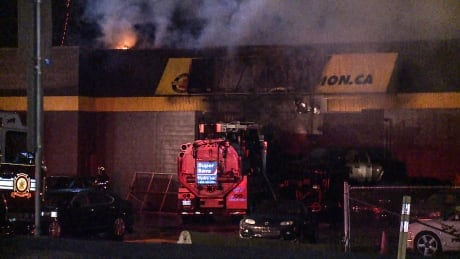 LANGLEY USED CAR DEALERSHIP FIRE