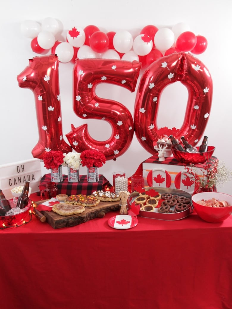 Canada Day 20 Ct Happy Canada Day Decorations Canadian Party Decor DIY Decorations Party Essentials 150th Birthday Maple Leaf