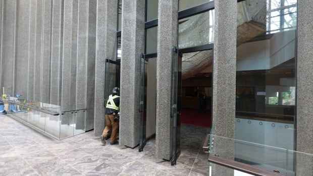 Exterior wall, now doors
