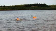 Wayne Strach in the Peel River