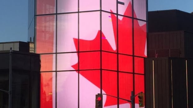 The NAC's signature lantern has a digital display for showing video and images to the public.