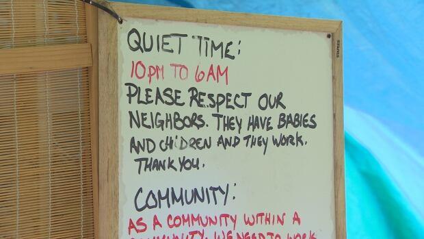 Homeless camp rules