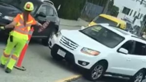 Construction flagger injured in hit-and-run crash in Burnaby