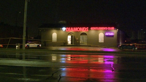 Police have arrested and charged three suspects in connection with last June's fatal shooting at Diamonds Cabaret Gentlemen's Club in Mississauga.