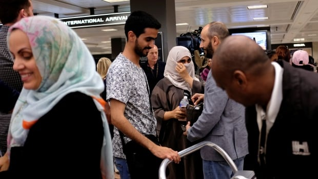 The new restrictions on travel to the United States from six mainly Muslim countries went into effect Thursday at 8 p.m. ET.