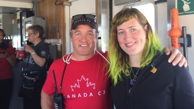Geoff Green and Erin Gillespie on Canada C3.