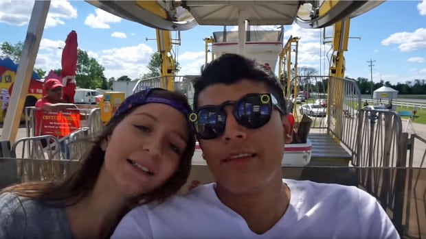 Monalisa Perez, left, and her boyfriend Pedro Ruiz III in one of their YouTube videos. Perez was charged Wednesday with second-degree manslaughter in the death of Ruiz.