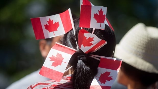 The Canadian government is handing out more than just flags to celebrate Canada's 150th anniversary. But most of it wasn't made in Canada.