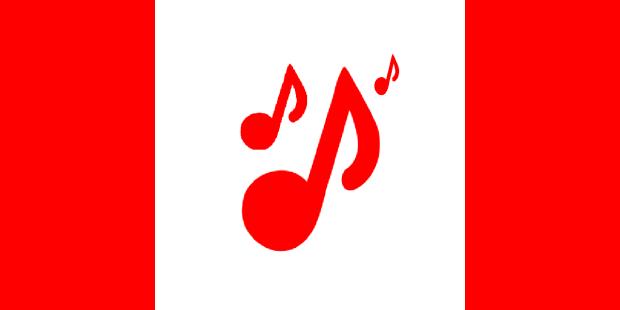 Canada Day music flag