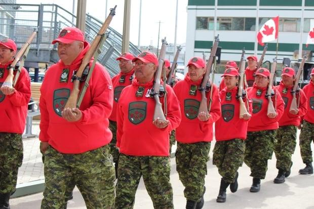 Canadian Rangers in Iqaluit, royal visit