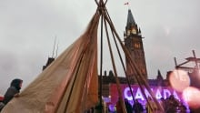 Indigenous teepee moved Parliament Hill stage June 29 2017