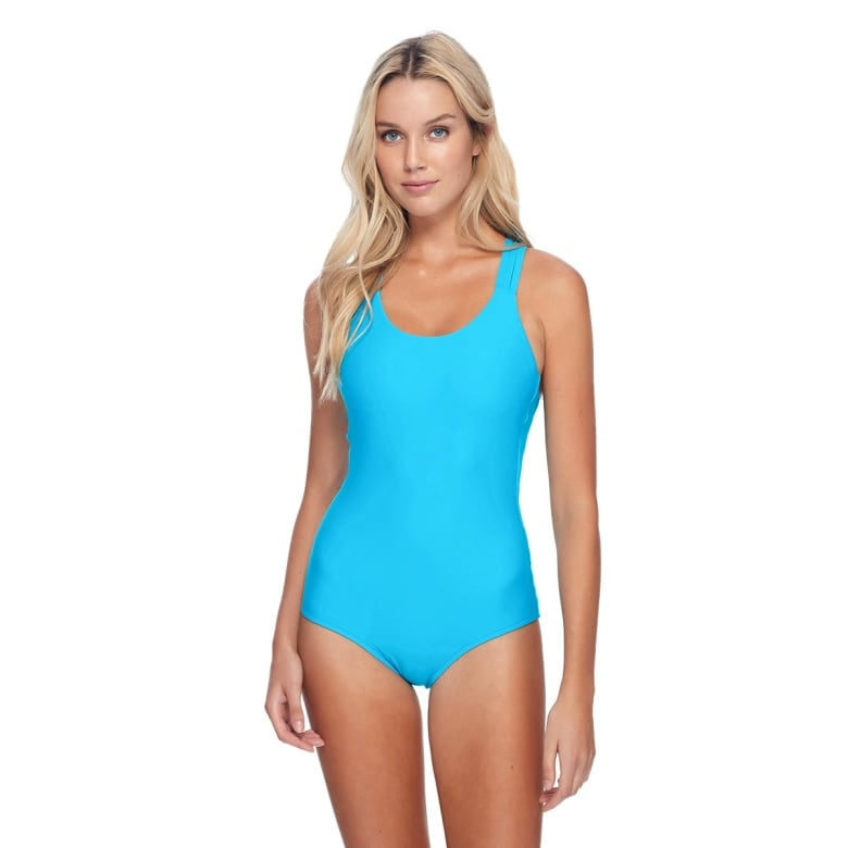 b06676b726 This one-piece looks pretty simple from the front