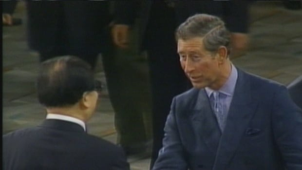Prince Charles shakes the hand of then Chinese leader Jiang Zemin on June 30, 1997, hours before the People's Republic of China officially took over governance of Hong Kong from the UK. The move sparked the migration of thousands from Hong Kong to Vancouver.