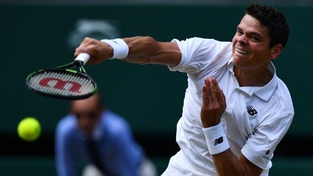 Canada's Milos Raonic beats Jan-Lennard Struff in straight sets at Wimbledon
