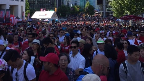 Canada Place Crowds July 1 2017 Vancouver
