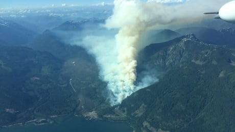 Harrison Lake fire