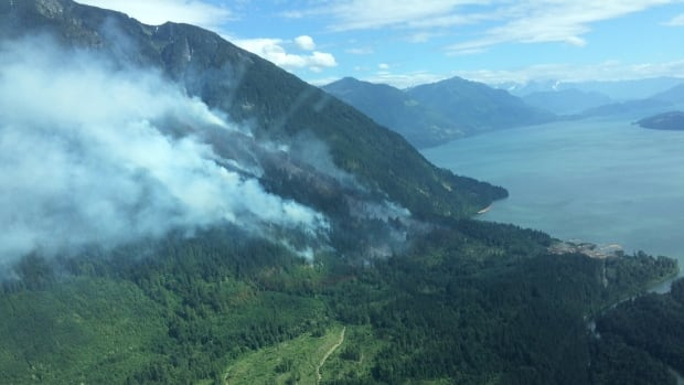 Crews battling 'out of control' wildfire near Harrison Hot Springs
