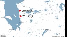 Map of Wemindji, Quebec