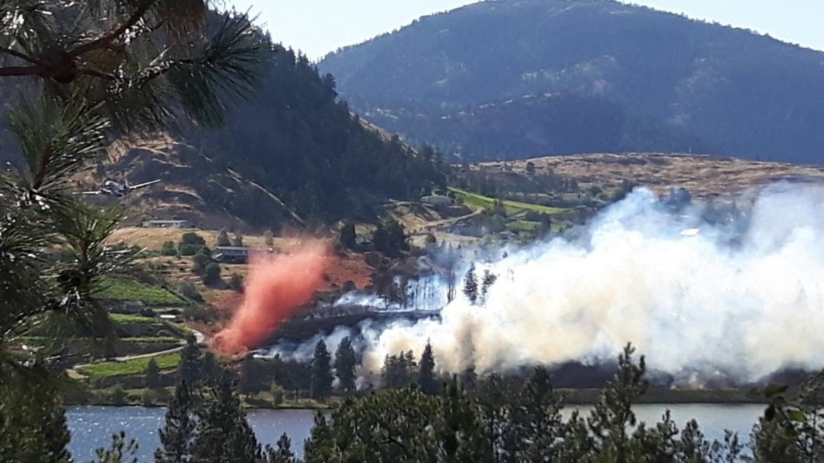 Okanagan Wildfire In Kaleden B C Dozens Of Homes