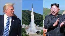 trump missile, kim jong un composite