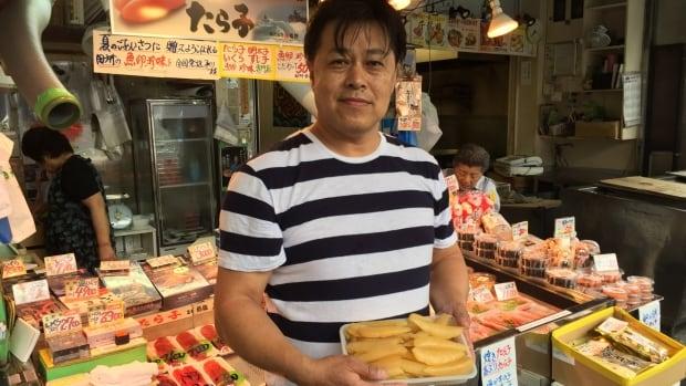 Tokyo fish merchant Satoru Tadokoro sells herring roe from Newfoundland & Labrador.
