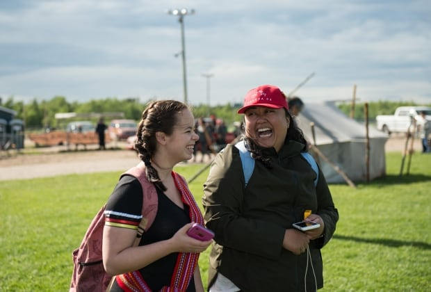 Melanie Rose Frappier and Anna Velasco in the Pessamit First Nation.