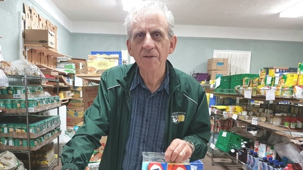 Lawrence Shebib, North Sydney Community Food Bank co-ordinator, says the facility had no room to store the $100,000 food donation.