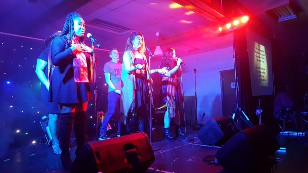 Surrey teens perform at a N'we Jinan album launch in Vancouver