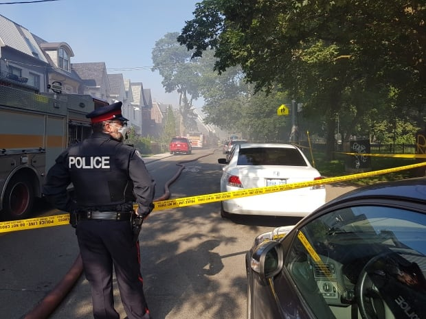 Several homes engulfed in 3-alarm fire in Trinity-Bellwoods area