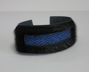 Jamie-Lee Cormier's cod leather and seal skin bracelet