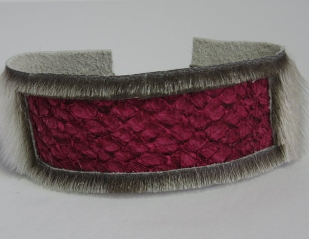 Jamie-Lee Cormier makes bracelets from cod leather