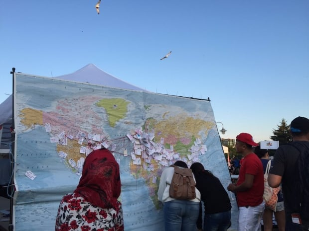 Hamilton map at Canada Day