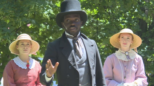 Father of Confederation John Hamilton Gray, played by Luke Junior Ignace, talks about forming 'one of the greatest nations the world has ever seen' during a daily, free Confederation Players vignette in Charlottetown.