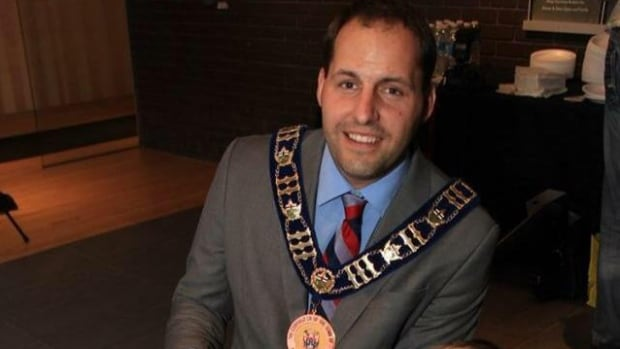 Justin Altmann, mayor of Whitchurch-Stouffville, told CBC News there was 'nothing evil' about the photo montage of local political players and residents taped to a wall in his office washroom.