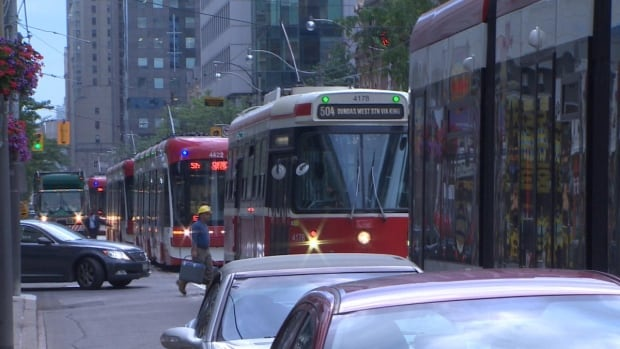 No one was seriously injured when two streetcars collided on King Street early Friday morning.