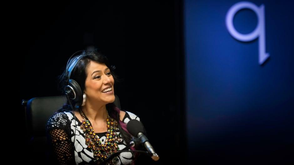 Lila Downs in studio q.