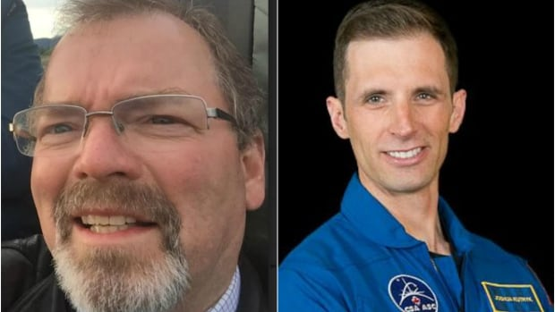 'This is what hard work and determination can do,' said Whitehorse school principal Ted Hupe, left, about his former student Joshua Kutryk. Kutryk was named one of Canada's new astronauts last week.