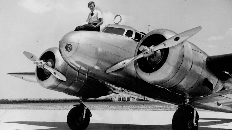 Amelia Earhart before takeoff in Miami in 1937. Earhart and her navigator, Fred Noonan, disappeared in the South Pacific later that year.