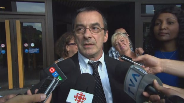 Michel Cadotte, 56, who was accused of second-degree murder in the death of his wife this winter, has been granted bail. He said he was very tired as he left the courthouse Friday.