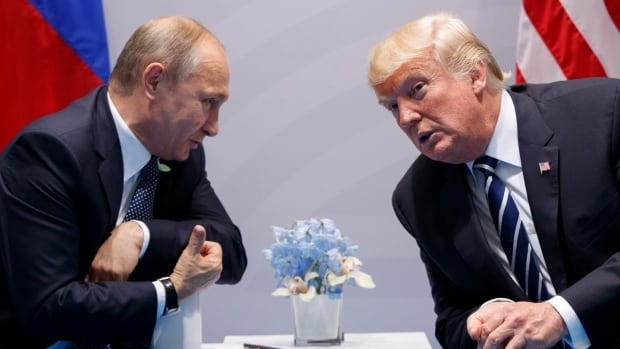 U.S. President Donald Trump meets with Russian President Vladimir Putin at the G20 Summit in Hamburg. Trump and Putin met for more than two hours.